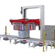 The fastest fully automatic rotating ring machine in the world for wrapping palletised loads.